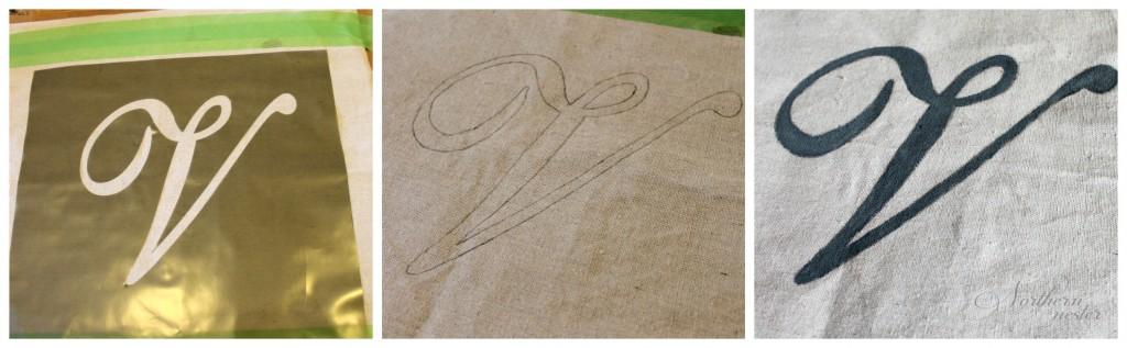 drop cloth monogram