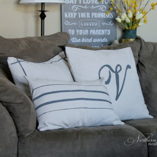 grainsack dropcloth pillows