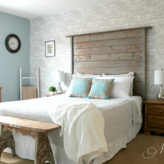 Neutral Farmhouse Master Bedroom Makeover | Before & After