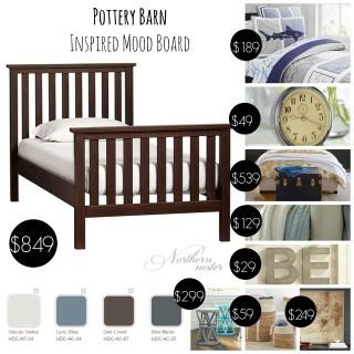 Pottery Barn Inspired Boy's Room Plan
