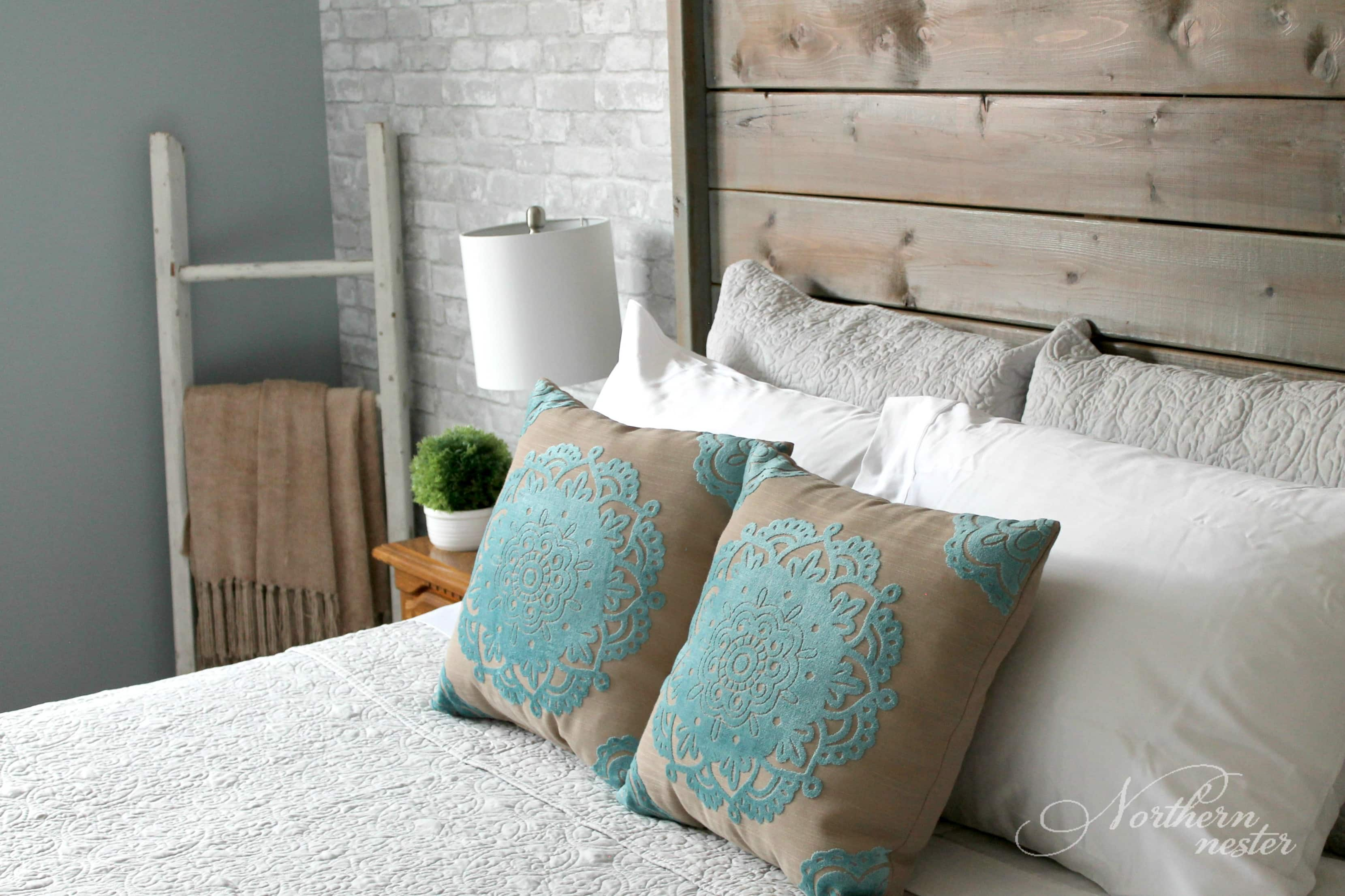 Neutral Farmhouse Master Bedroom Makeover