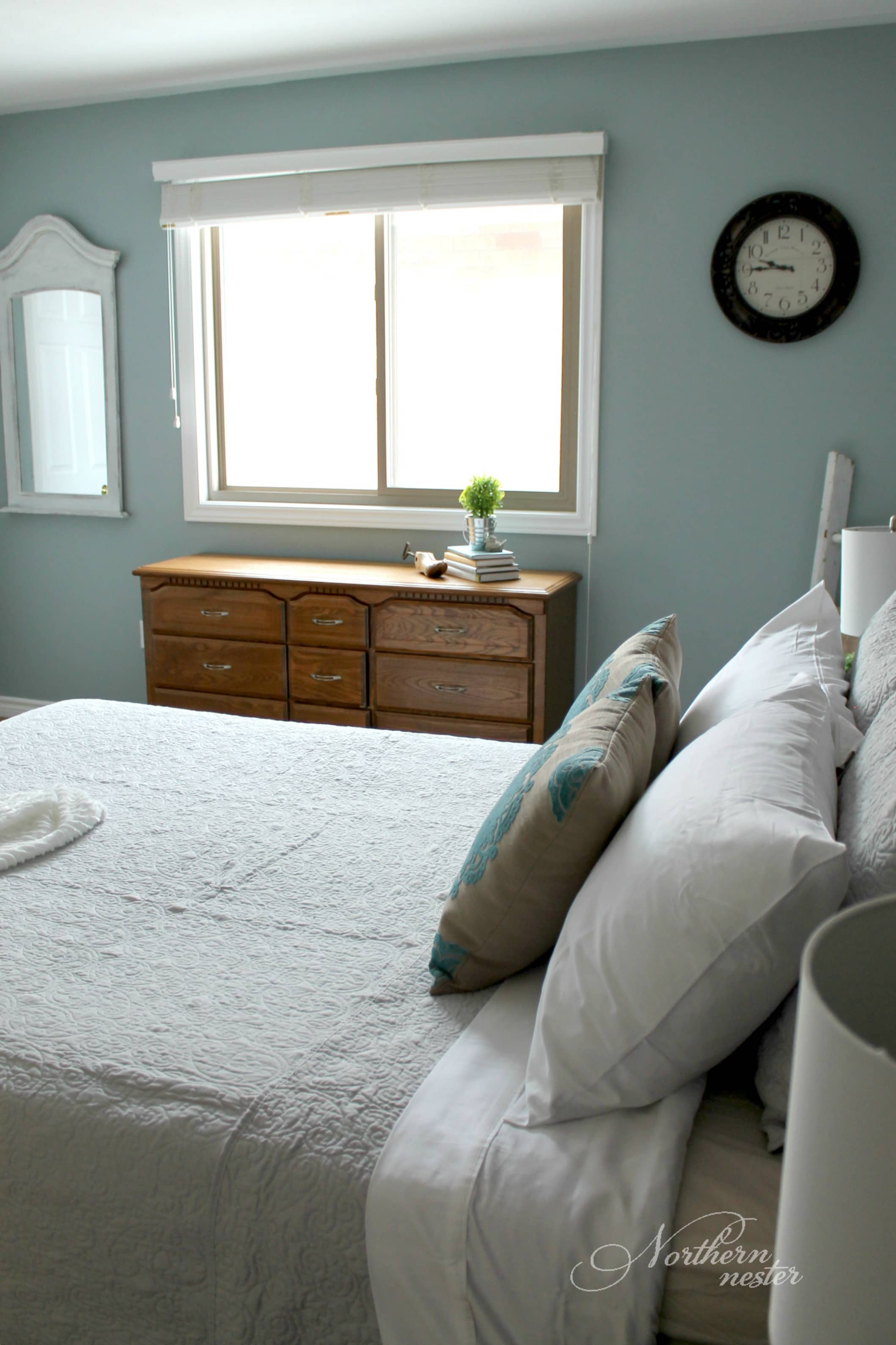 Bedroom Redo Neutral Farmhouse Master Bedroom Makeover  Before & After