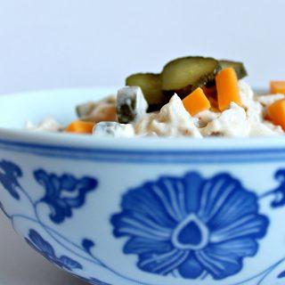 Dill Pickle Pasta-less Salad | THM: S