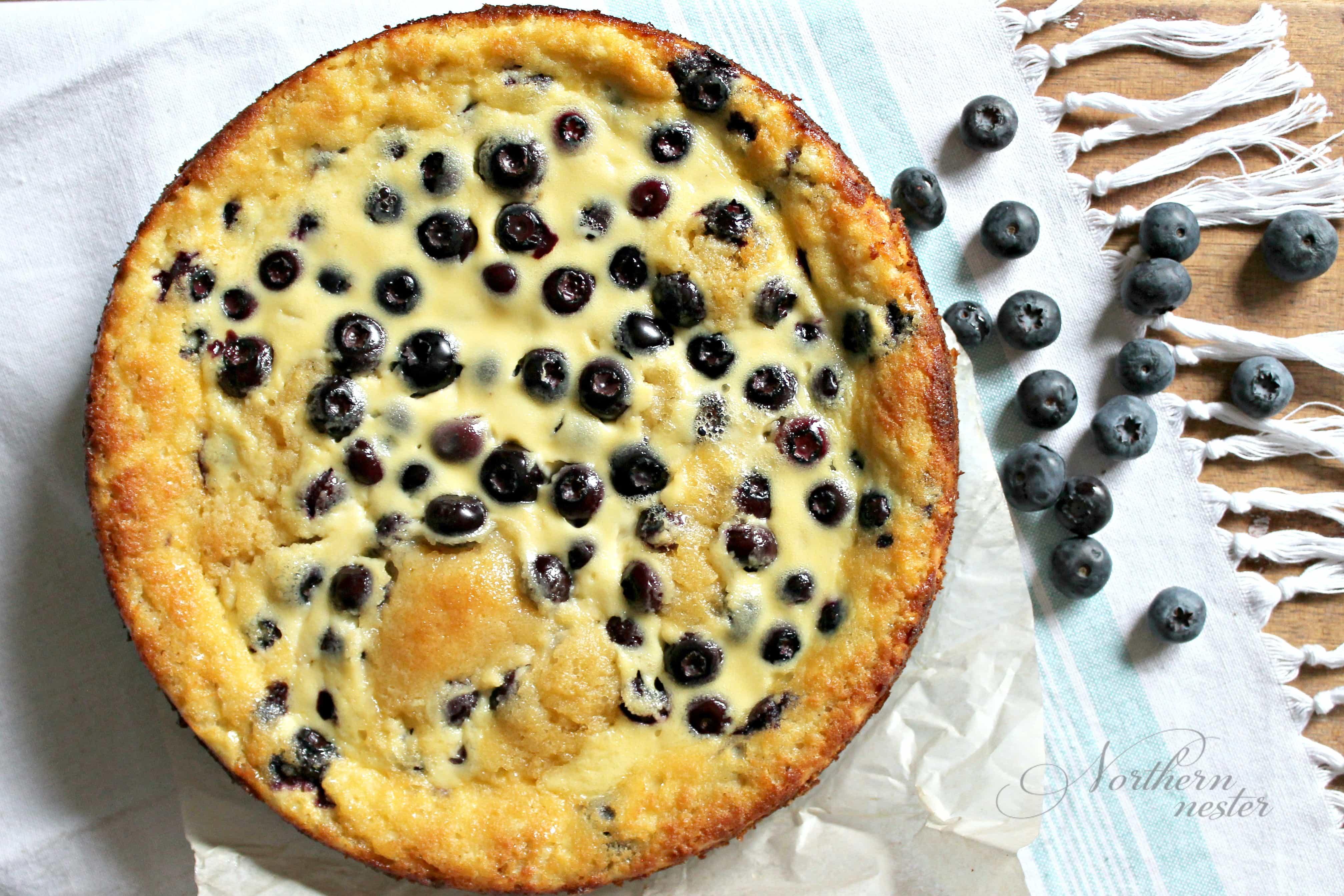 Blueberry Sour Cream Cake | THM: S