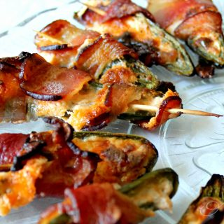 Cream Cheese Bacon-Wrapped Jalapeno Poppers | THM: S