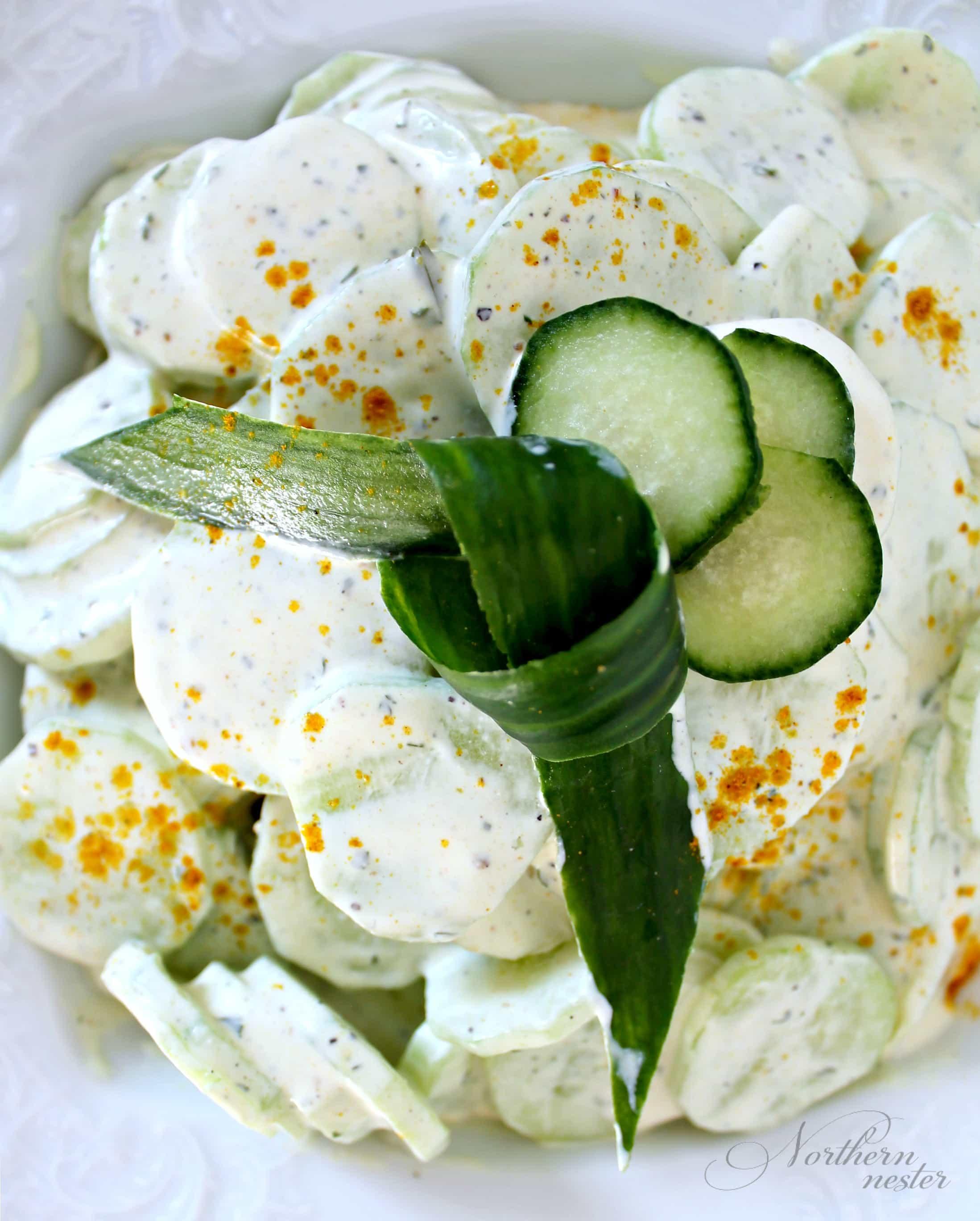 Curried Cucumber Salad