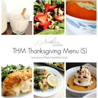 THM Thanksgiving Menu