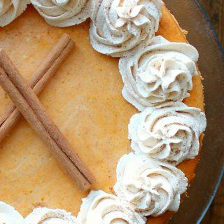 Pumpkin Cheesecake with Pecan Crust | THM: S
