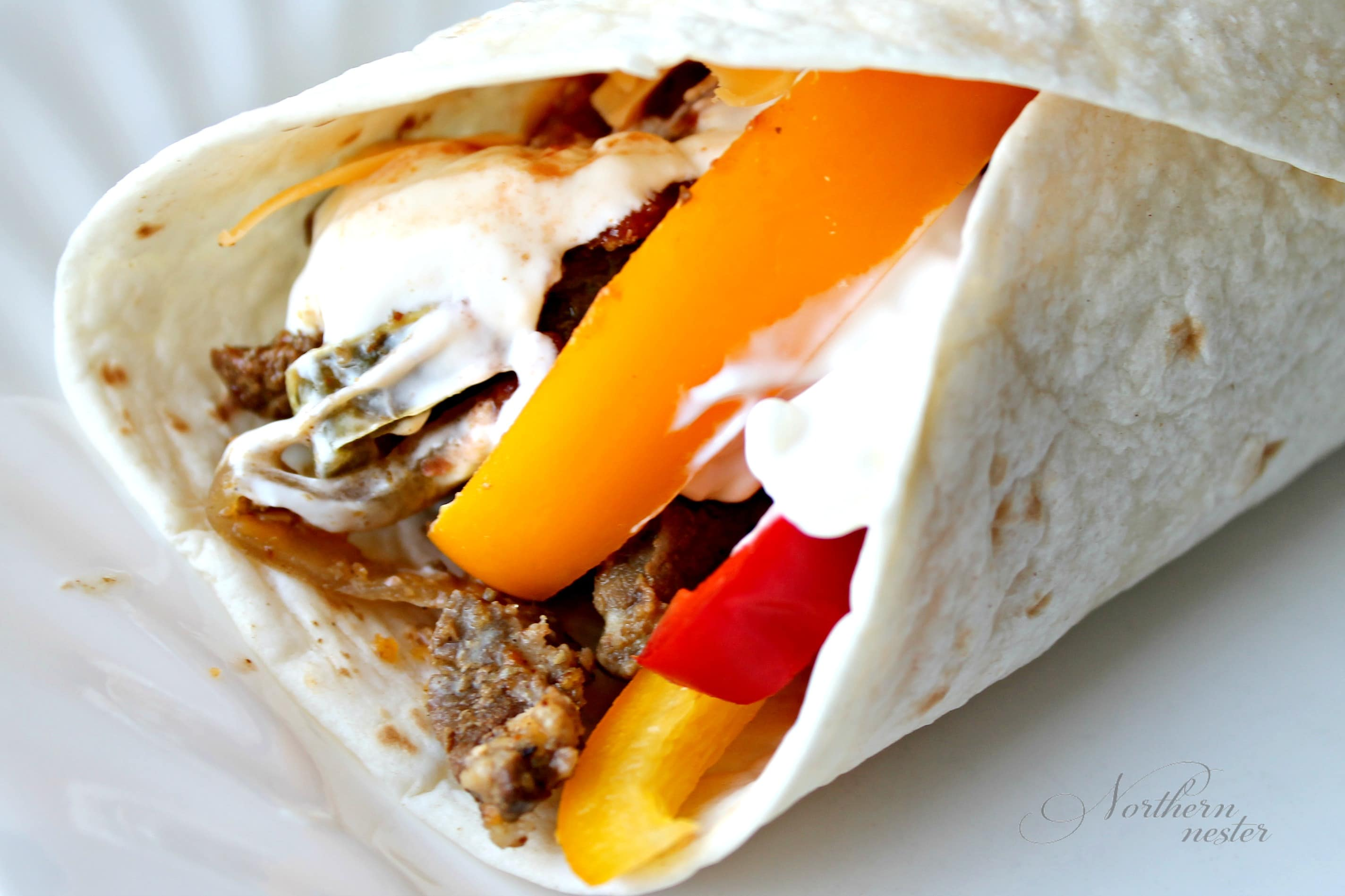 Slow Cooker Steak Wraps