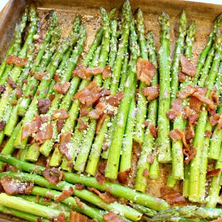 Bacon & Parmesan Roasted Asparagus | THM: S
