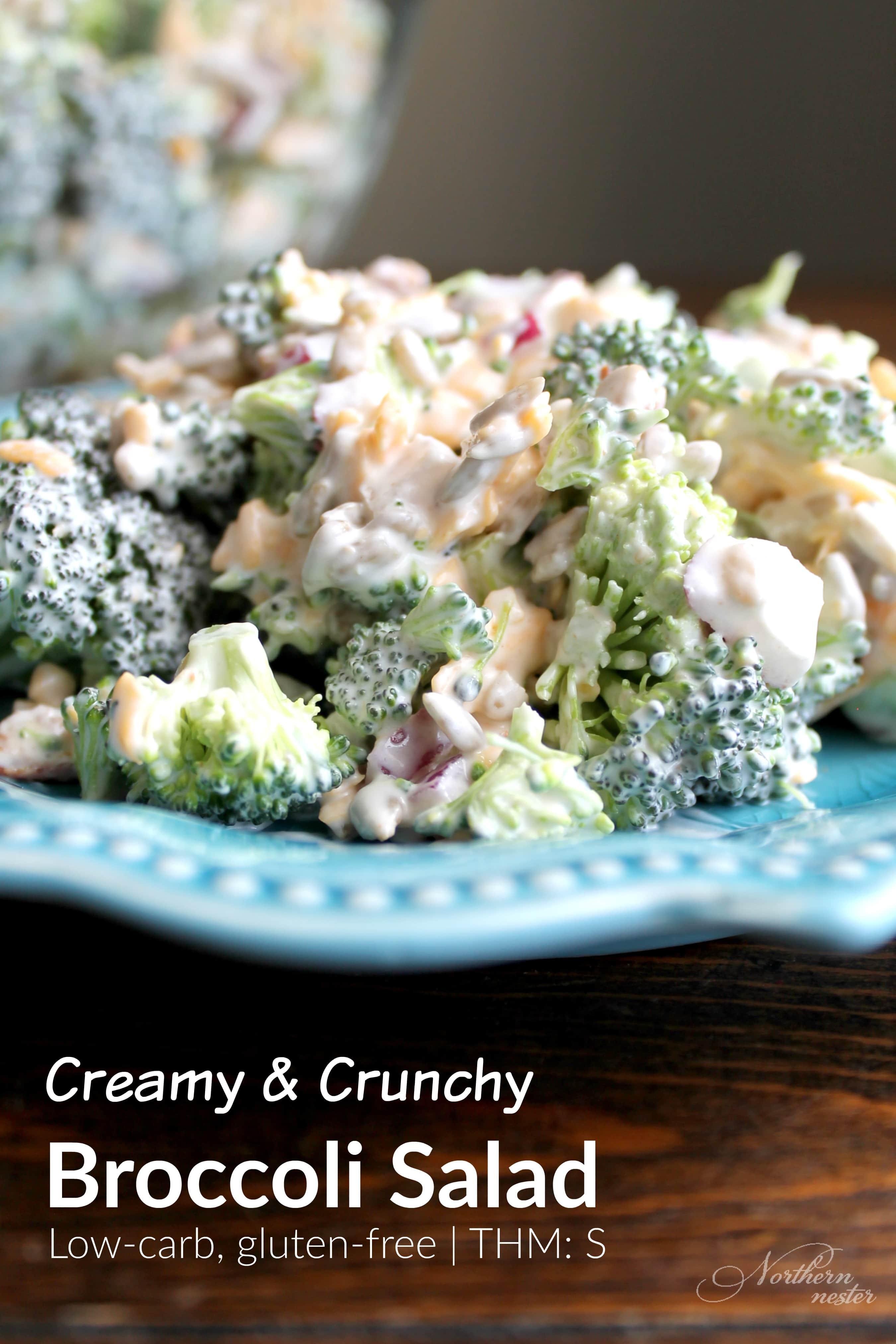 Creamy Crunchy Broccoli Salad Thm S Northern Nester