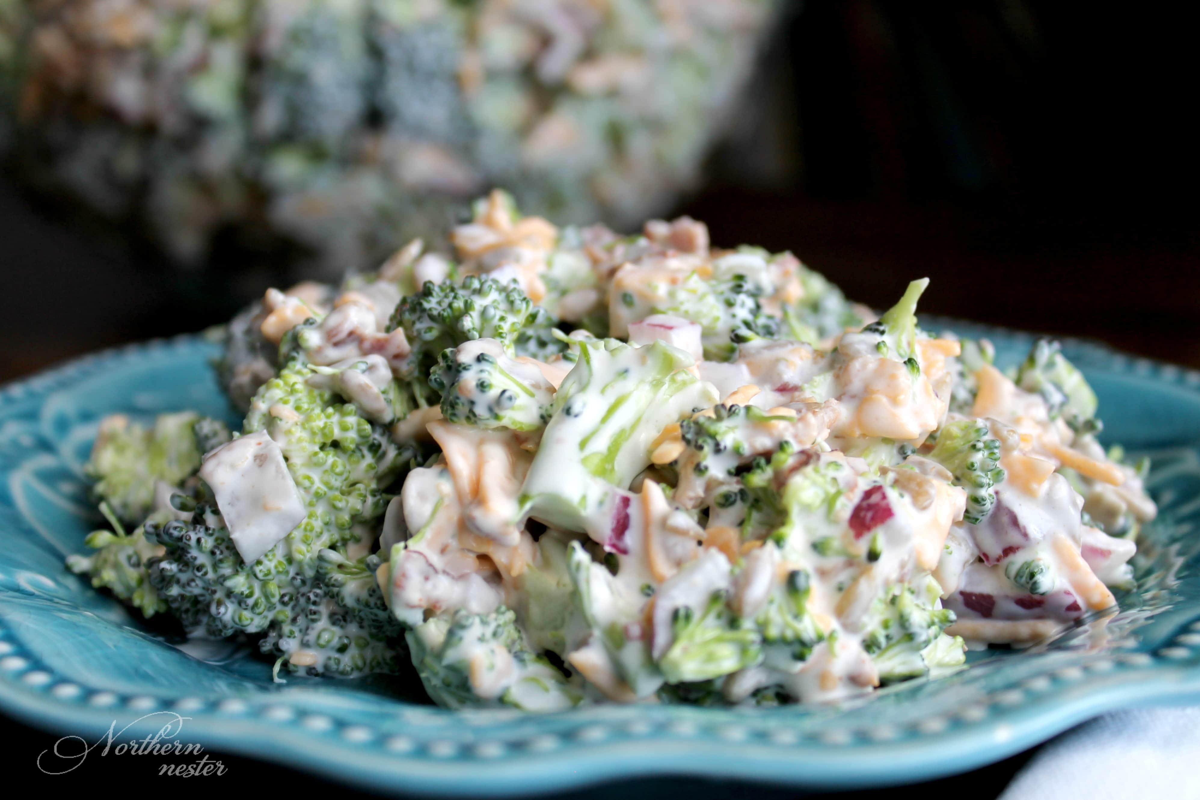 Creamy & Crunchy Broccoli Salad | THM: S
