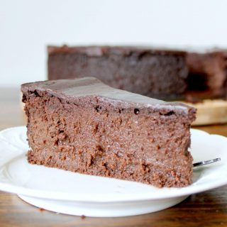 Double Dark Chocolate Mousse Cake | THM: S