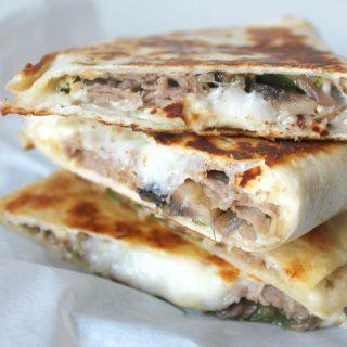Quick Steak & Cheese Quesadillas | THM: S