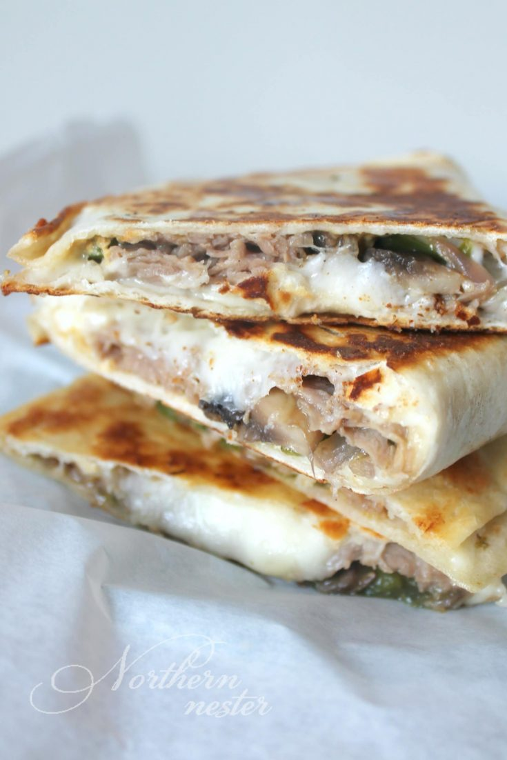 Quick Steak & Cheese Quesadillas | THM: S