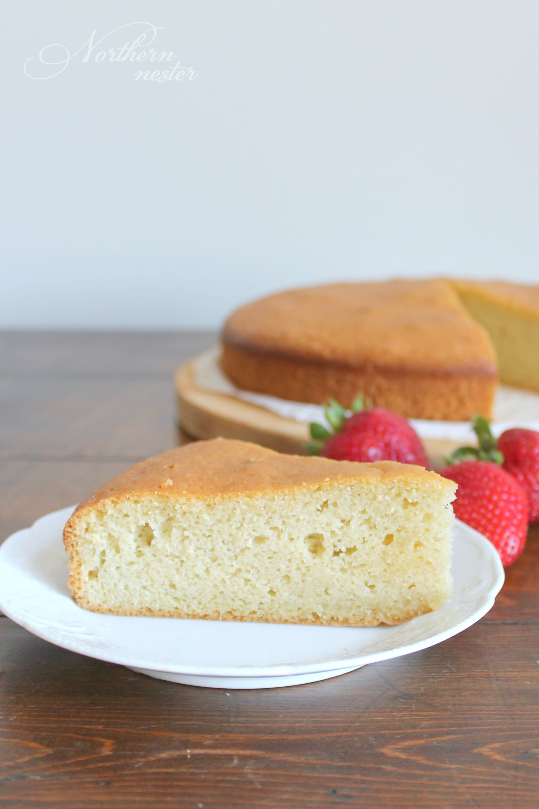 Healthy Low Sugar Pound Cake