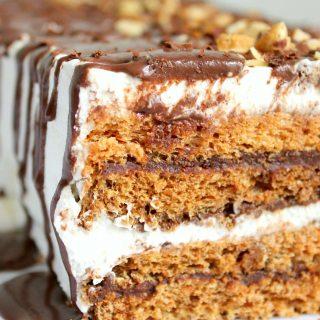 Hazelnut Meringue Torte | THM: S