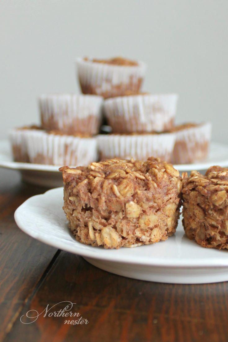 Apple Cinnamon Baked Oatmeal Cups | THM: E