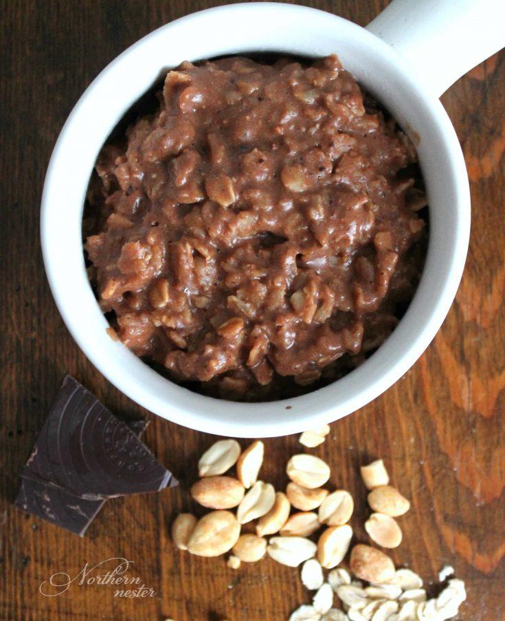 Chocolate Peanut Butter Cookie Oatmeal | THM: E