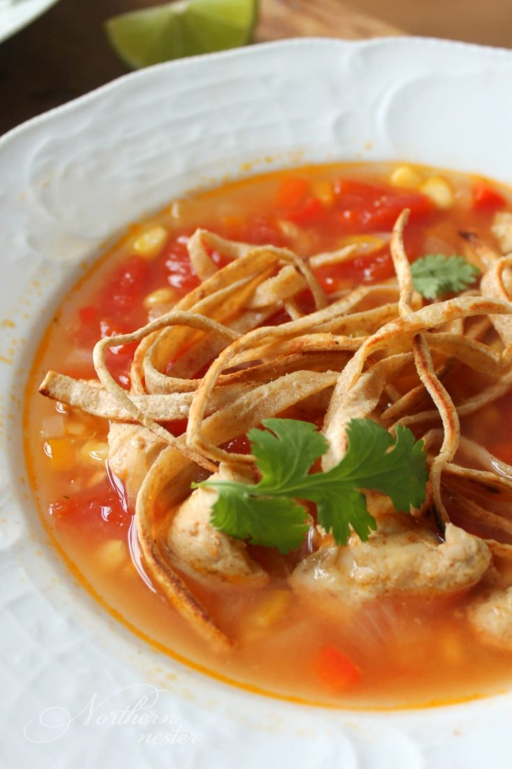 Chicken Tortilla Soup | THM: E