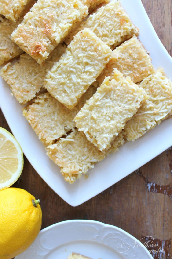 Lemon Coconut Bars | THM: S