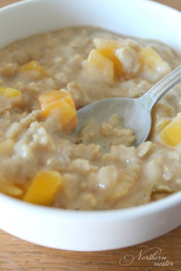 Peaches And Cream Oatmeal | THM: E