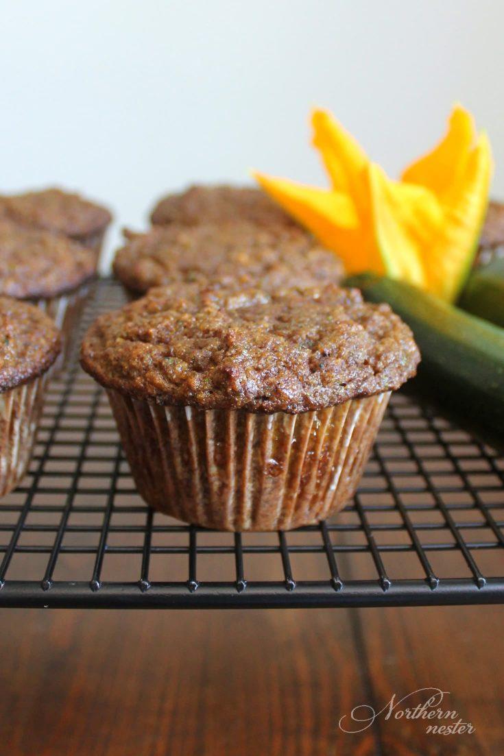 Zucchini Cinnamon Muffins | THM: S