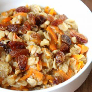 Carrot Cake Oatmeal | THM: E, GF, DF