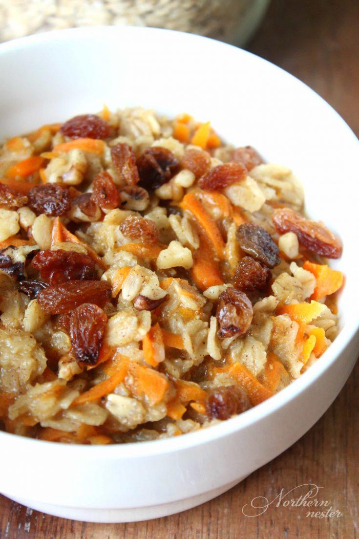 Carrot Cake Oatmeal | THM: E