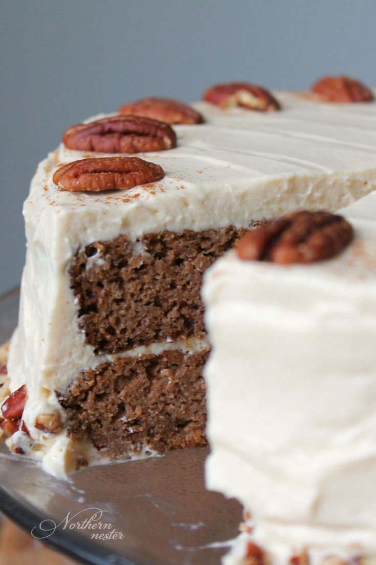 Low-Carb Pumpkin Cake With Maple Frosting | THM: S
