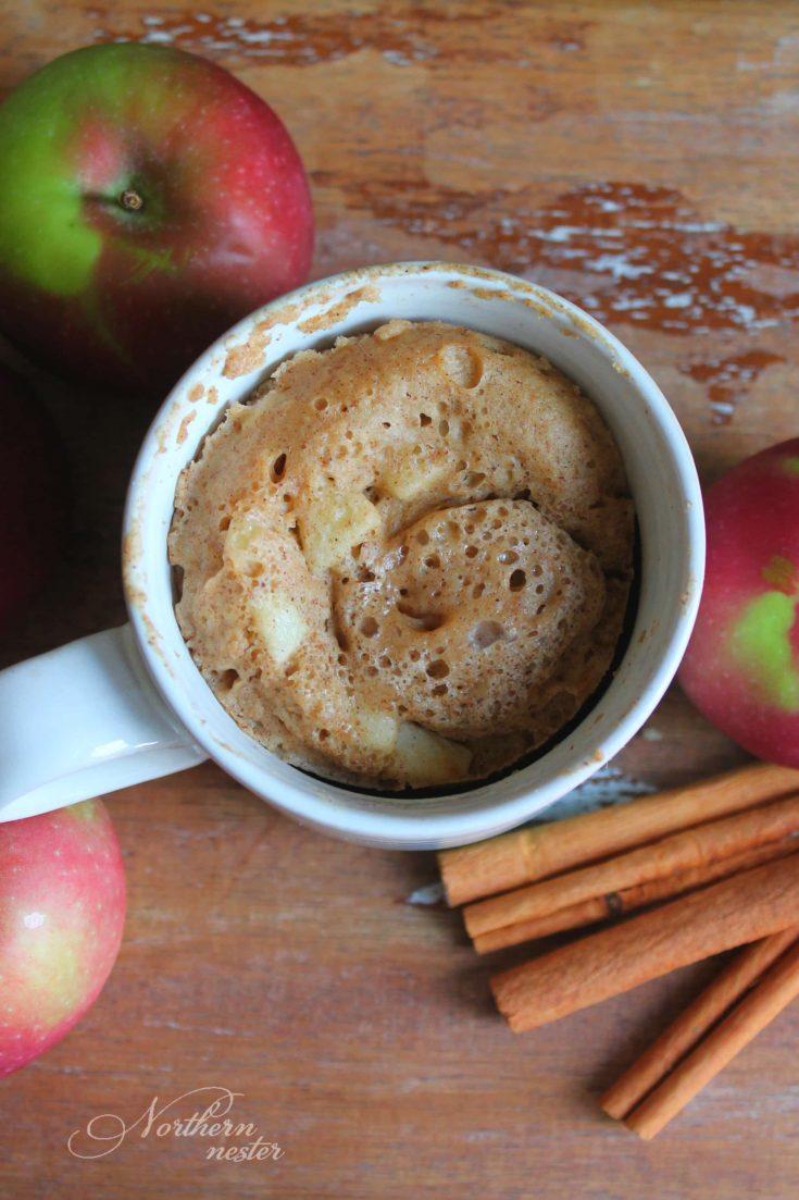 Apple Cake In A Mug | THM: E