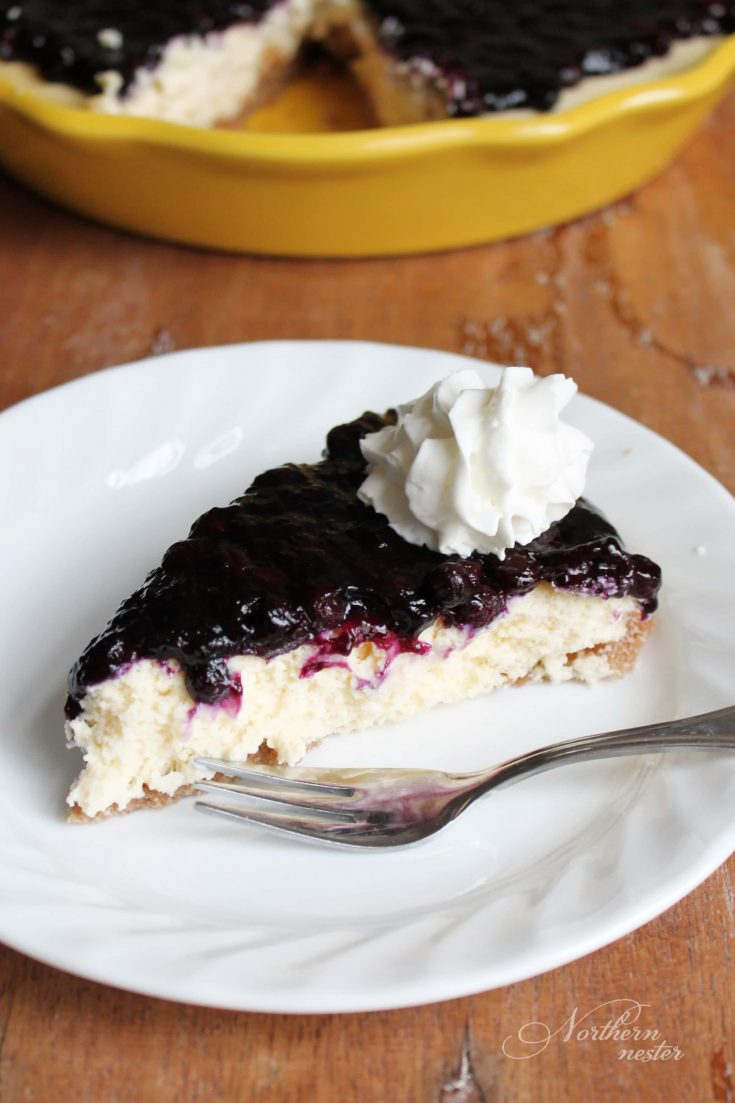 Blueberry Cream Cheese Pie | THM: S