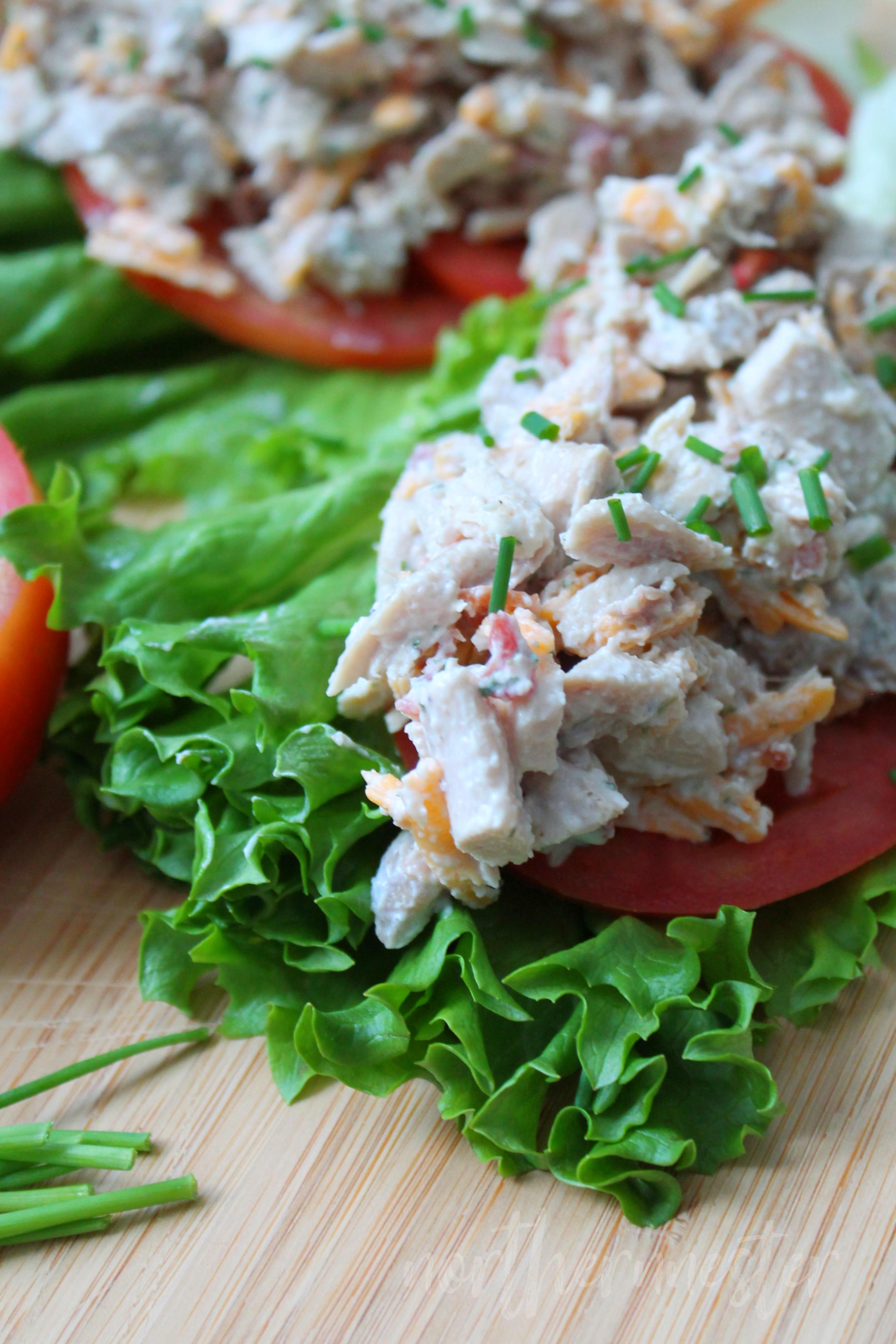 Chicken Bacon Ranch Salad on Lettuce