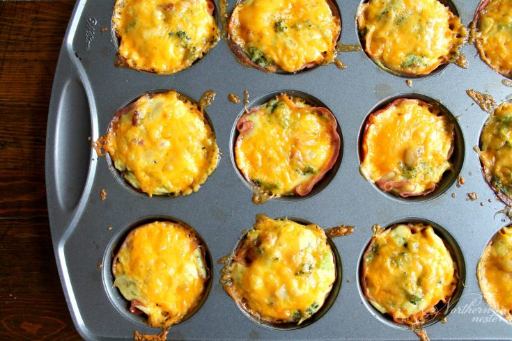 Low Carb Mini Ham & Broccoli Quiches