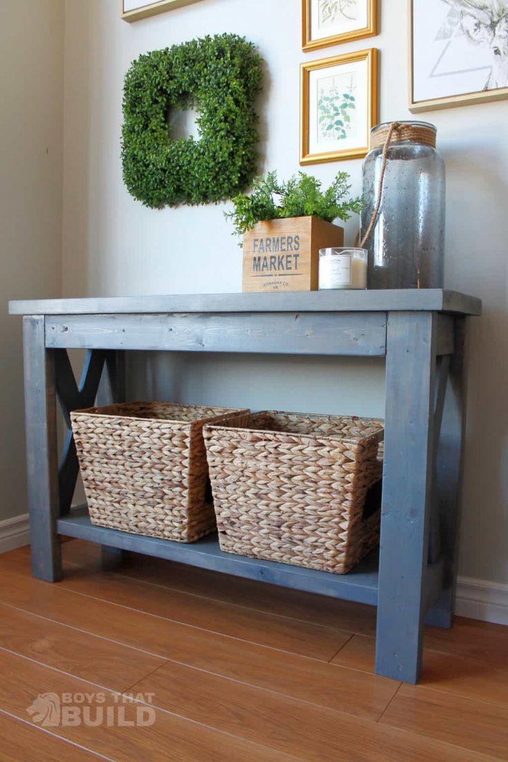Free Farmhouse Sofa Table Plan