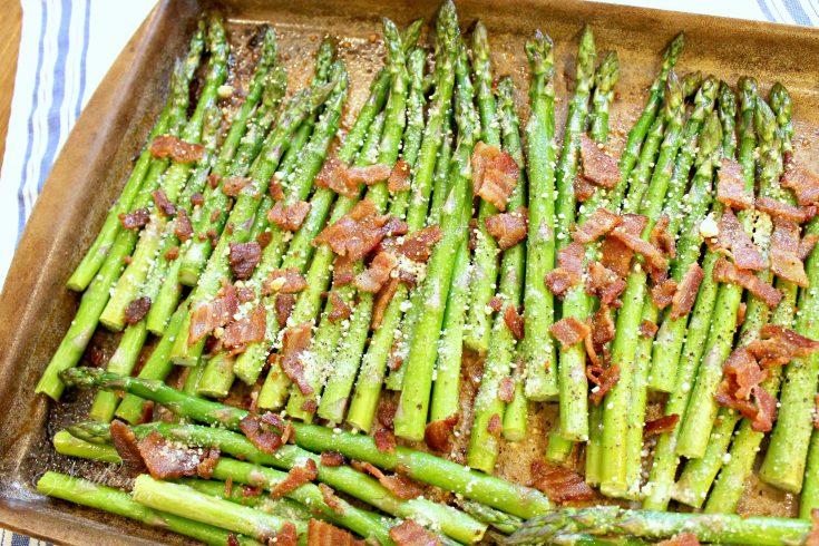 Bacon & Parmesan Roasted Asparagus
