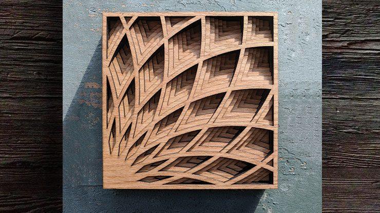 ART DECO SHADOW BOX