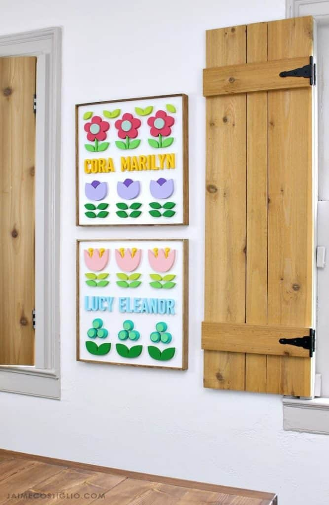SCROLL SAW NAME PLAQUES