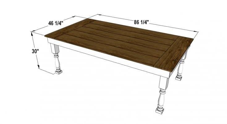 Free Farmhouse Table Plan