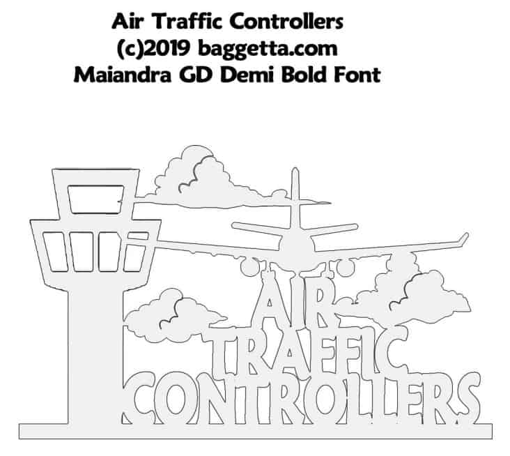 AIR TRAFFIC CONTROLLERS TABLE SIGN PATTERN