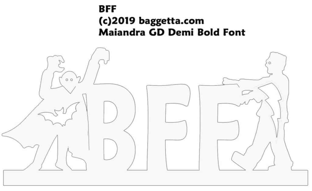 BFF TABLE TOP SIGN PATTERN
