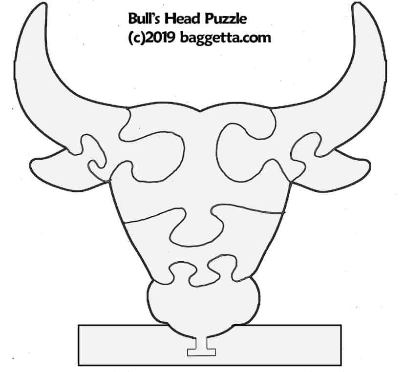BULL HEAD PUZZLE PATTERN