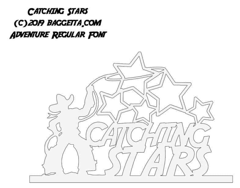 CATCHING STARS TABLE SIGN