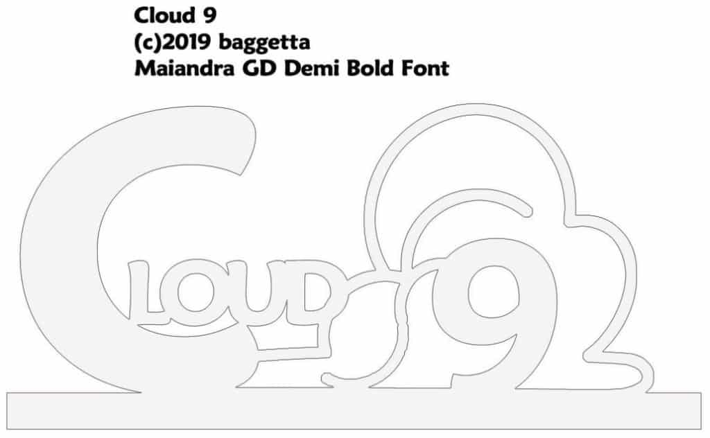 CLOUD 9 TABLE SIGN PATTERN