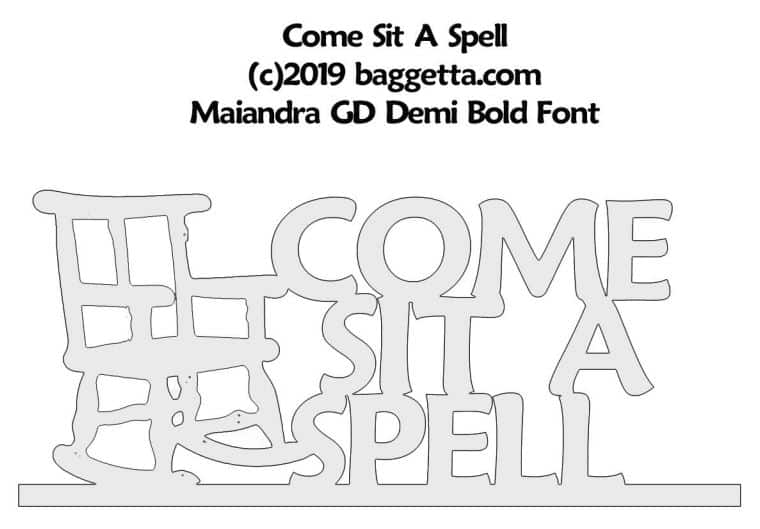 COME SIT TABLE SIGN PATTERN