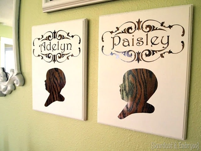 CUTOUT SILHOUETTE PLAQUES OUT OF WOOD