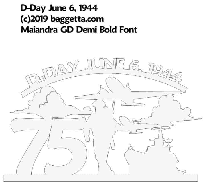 D-DAY 75TH YEAR RECOGNITION SIGN PATTERN