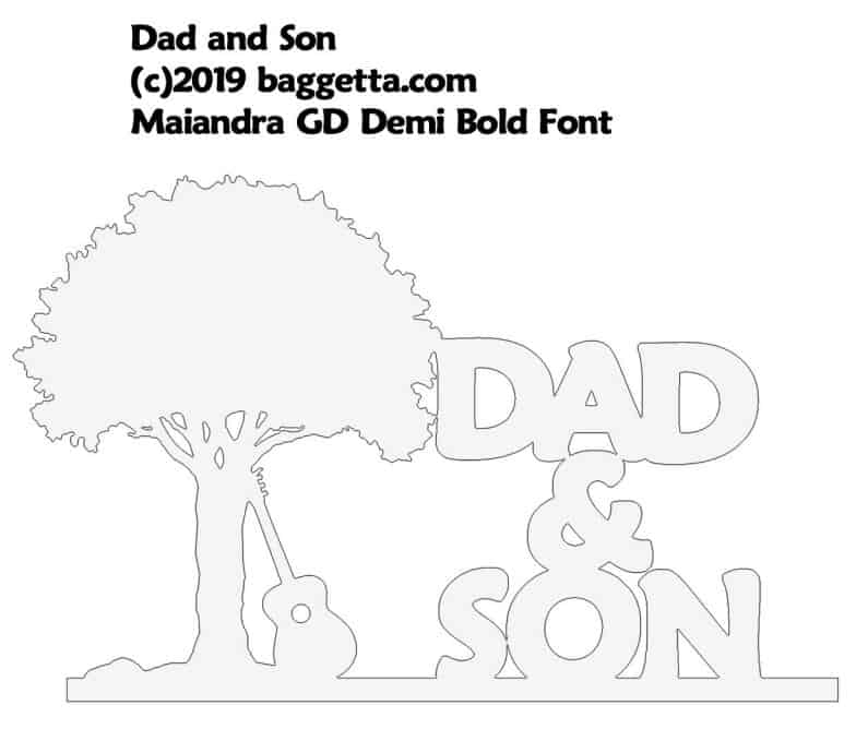 DAD & SON TABLE SIGN PATTERN