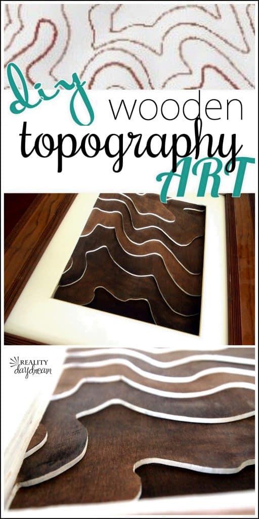 DIY WOODEN TOPOGRAPHY ARTWORK
