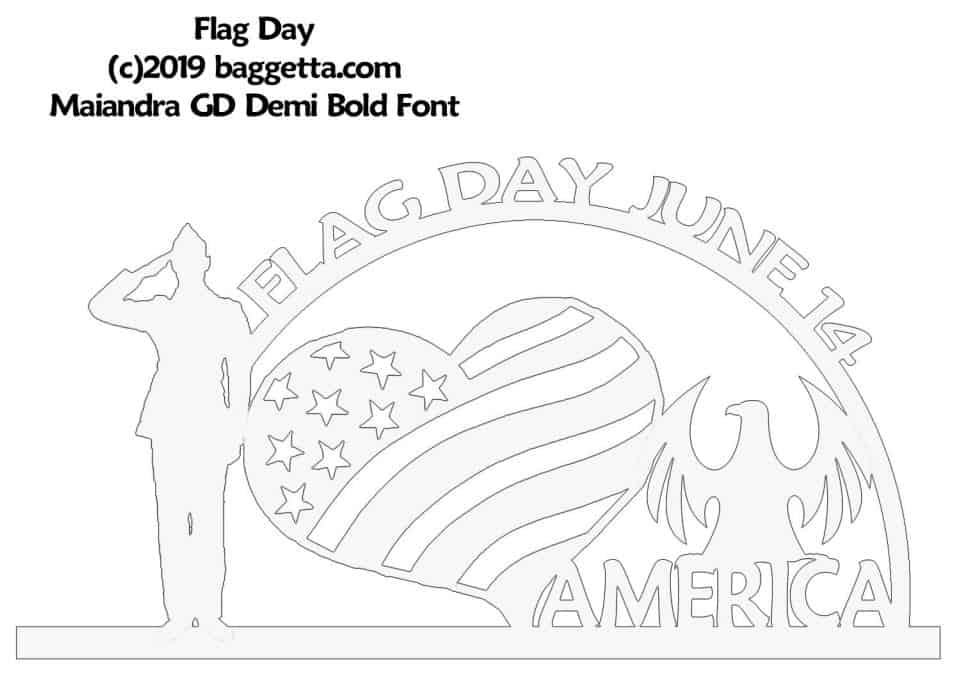 FLAG DAY TABLE SIGN PATTERN